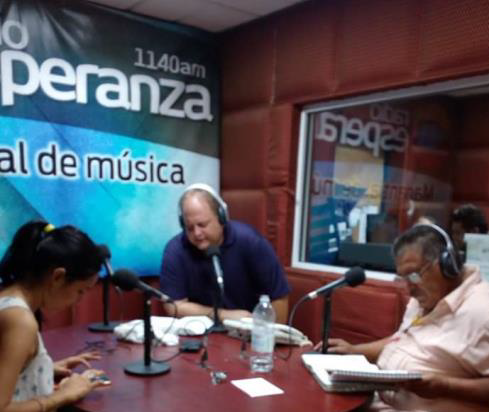 I had the privilege to minister over a radio station which is broadcast all over Mexico. God has opened many doors to spread the gospel message!